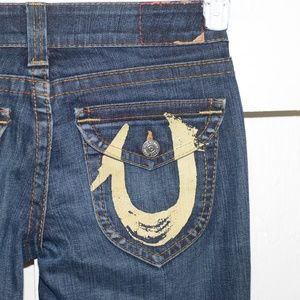 True religion straight womens jeans size 28 Long